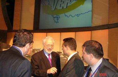 Erhard Busek dhe Bujar Dugolli në Forumin Ekonomik të Vienës